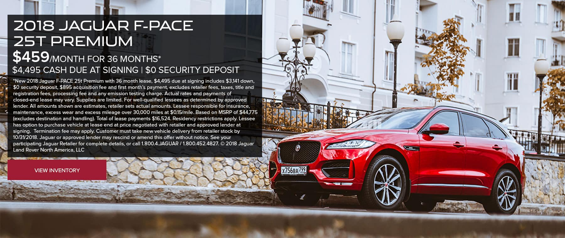 F-PACE Oct Banner