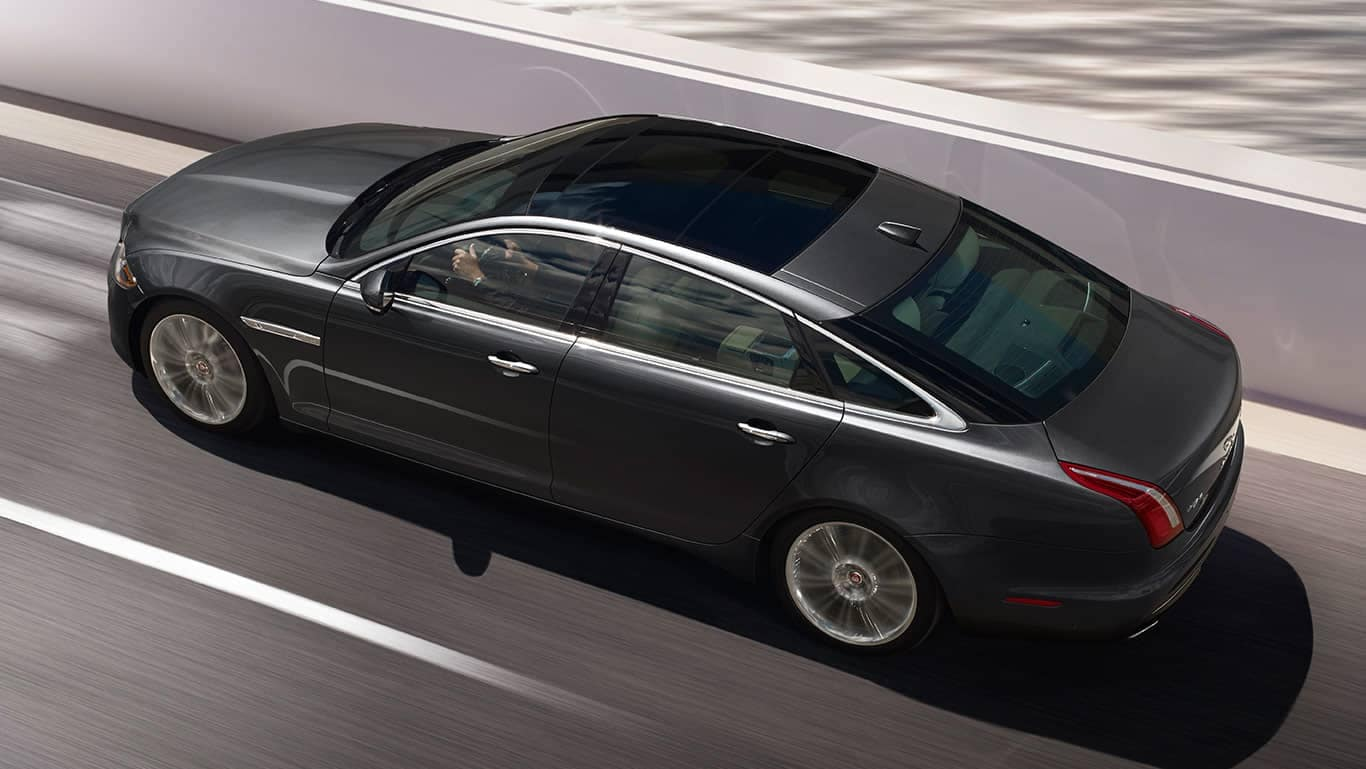 Top View of 2019 Jaguar XJ Driving