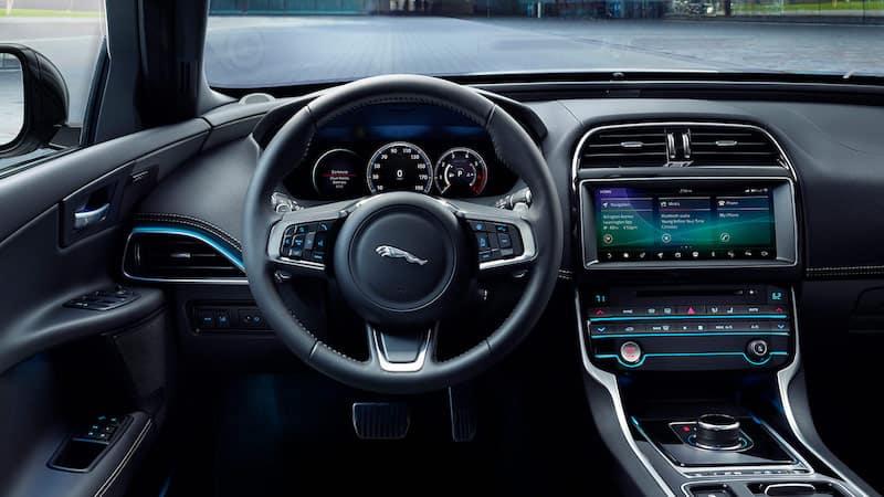 Black XE interior dashboard