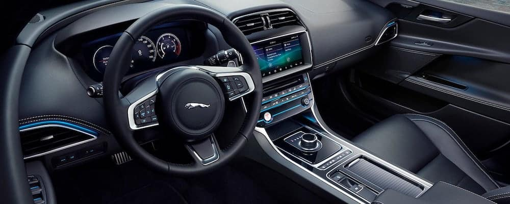 2019 jaguar xe interior view of passenger seat and dashboard