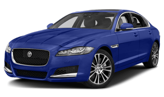 Blue Jaguar XF