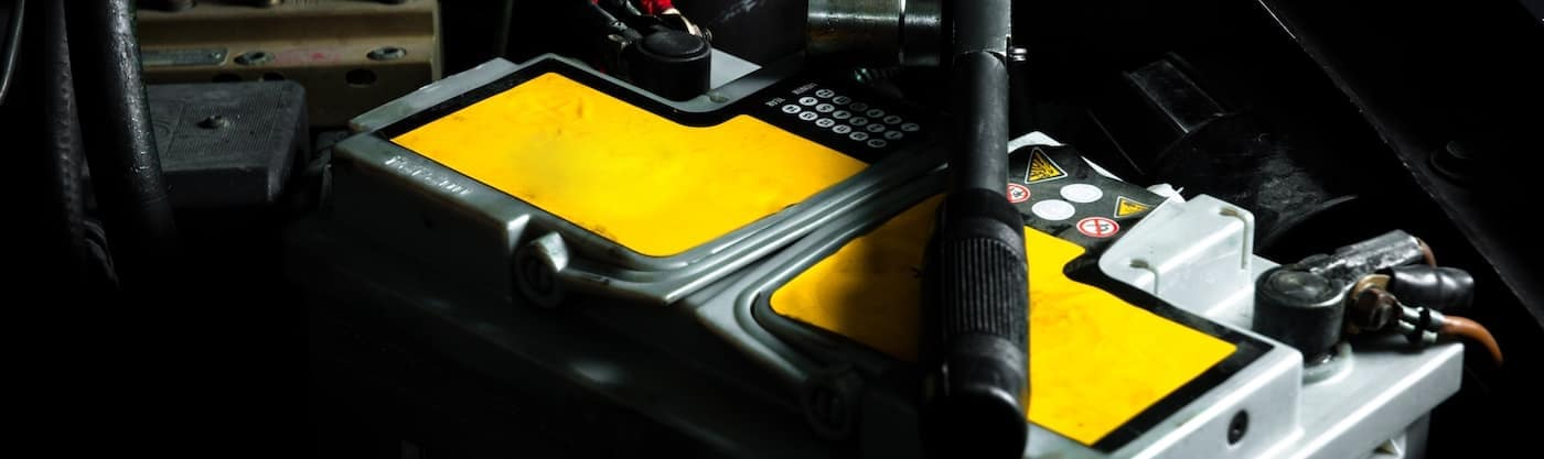 Yellow Car Battery