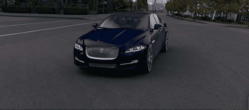 Navy Blue Jaguar XJ