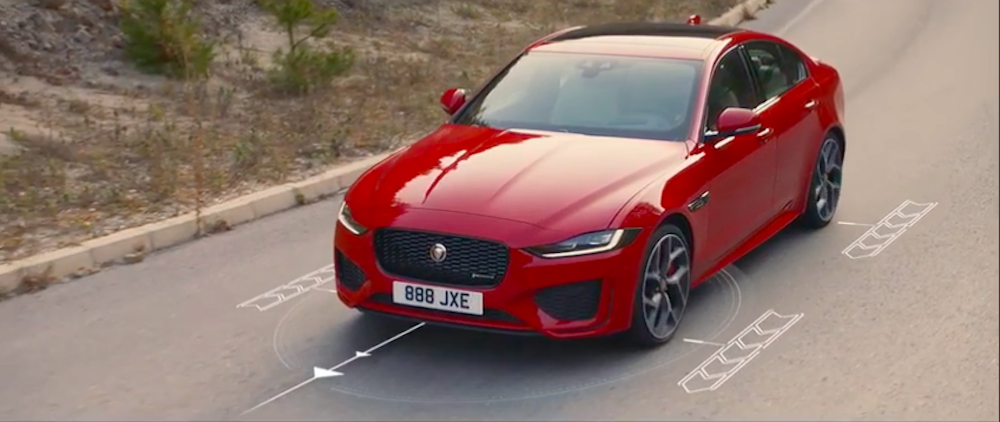 Red Jaguar XE