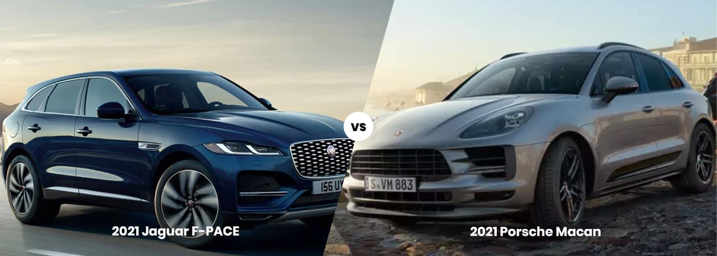 2021 F-PACE vs. Porsche Macan