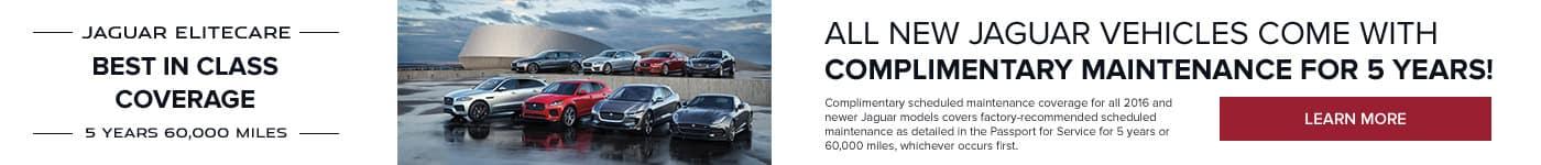 Jaguar EliteCare - Best in class coverage - 5 years, 60,000 miles