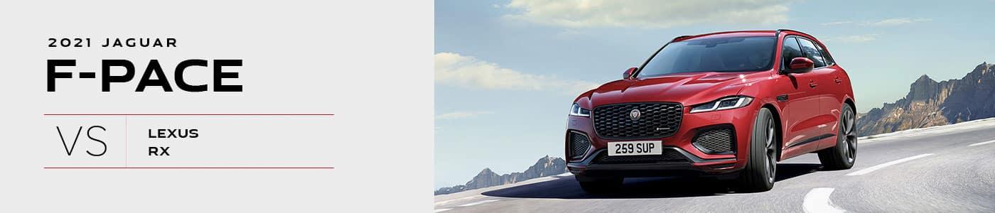 2021 Jaguar F-PACE vs Lexus RX Comparison - Jaguar Louisville