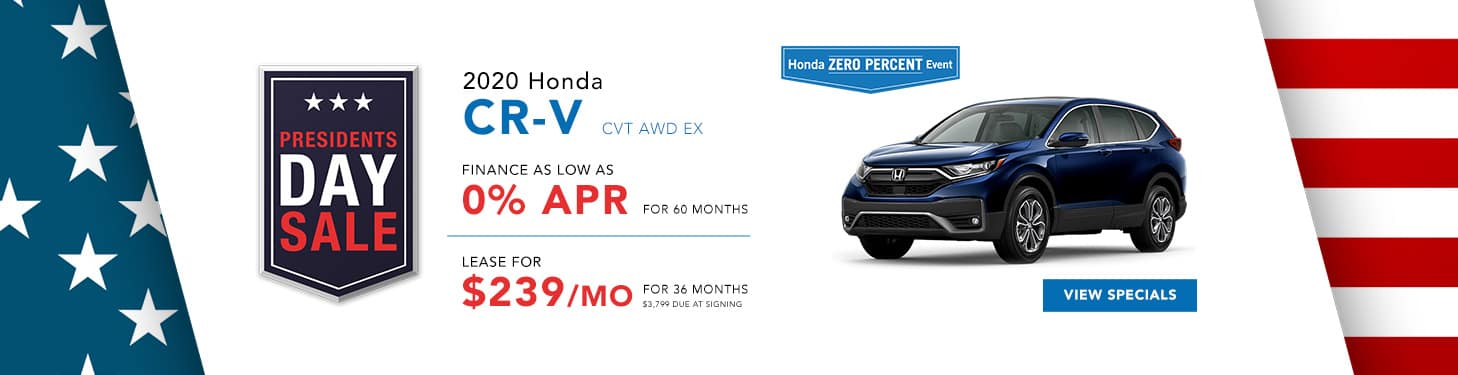 2021 Honda CR-V Feb Specials