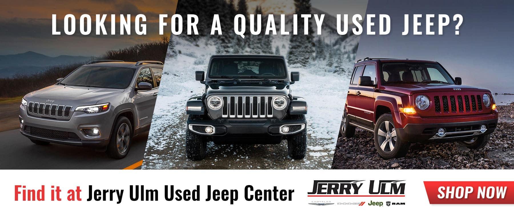 used jeeps for sale tampa jerry ulm chrysler jeep dodge ram. Black Bedroom Furniture Sets. Home Design Ideas