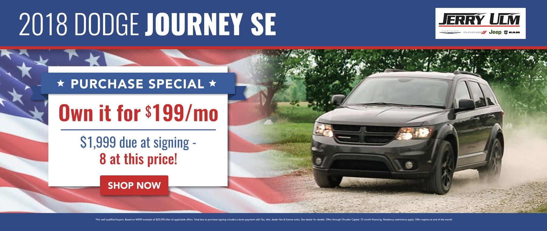2018 Dodge Journey special