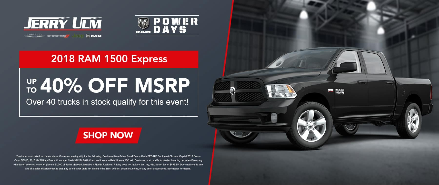 40% off msrp on 2018 RAM 1500