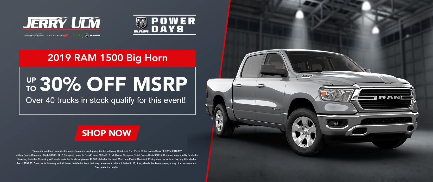 30% Off Msrp On 2019 RAM 1500 Big Horn