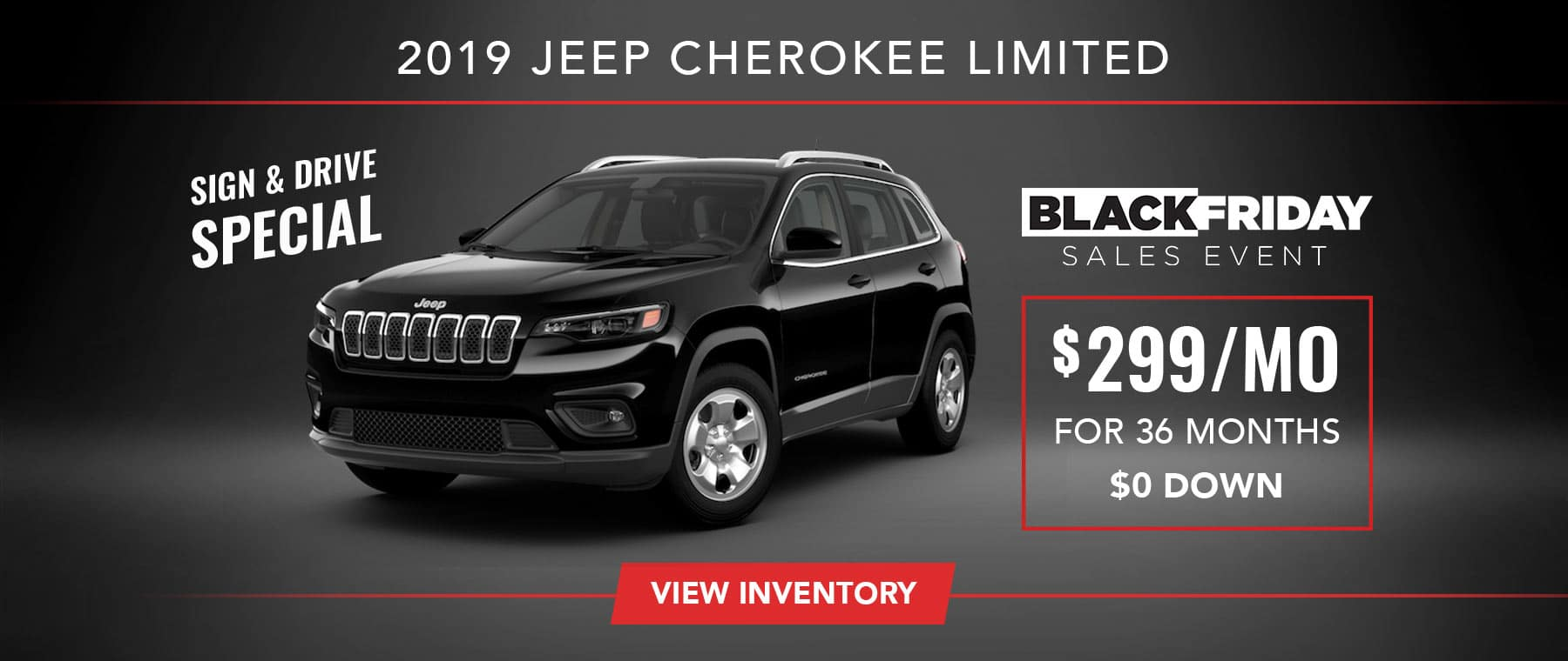 2019 Jeep Cherokee Sign and Drive Special
