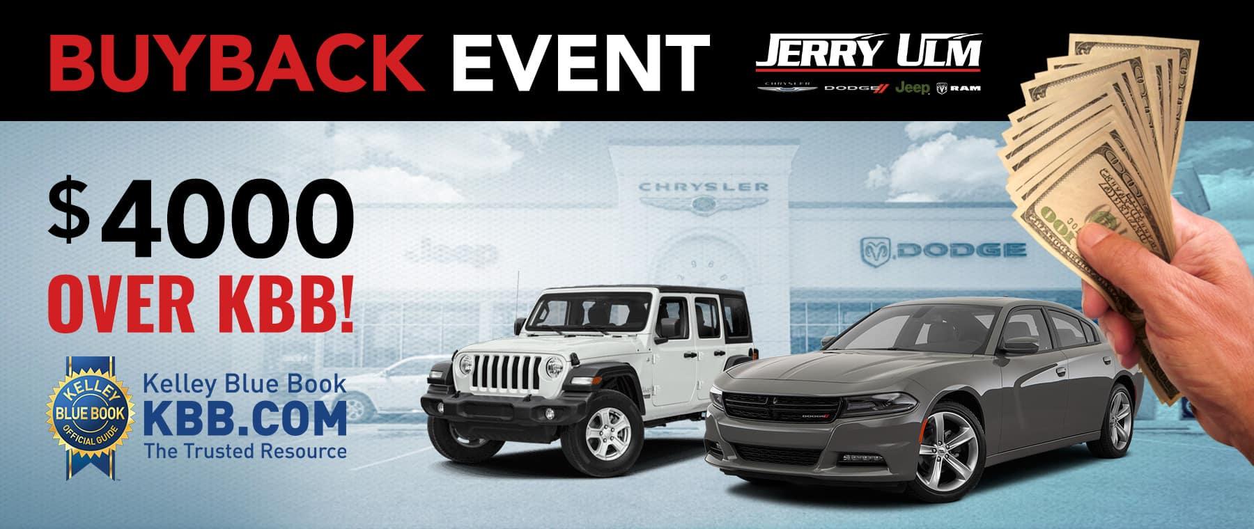 Kbb Com Cars Value >> Buyback Event Jerry Ulm Chrysler Dodge Jeep Ram Tampa