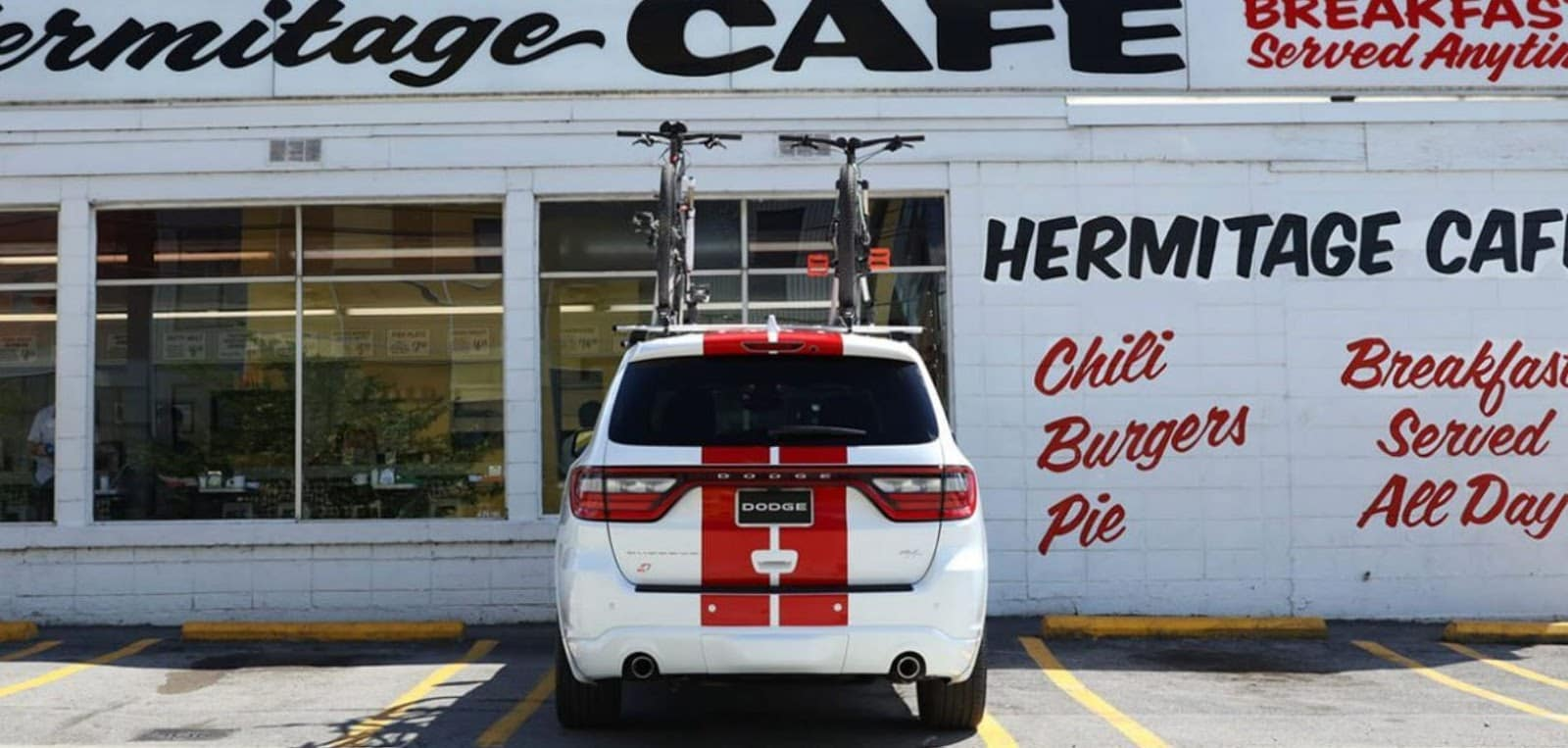2019 dodge durango srt with red racing stripes hermitage cafe