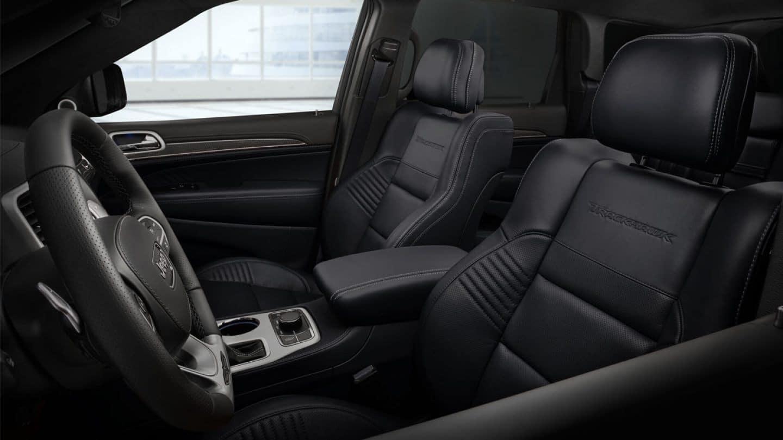 019 jeep grand cherokee black leather trackhawk interior
