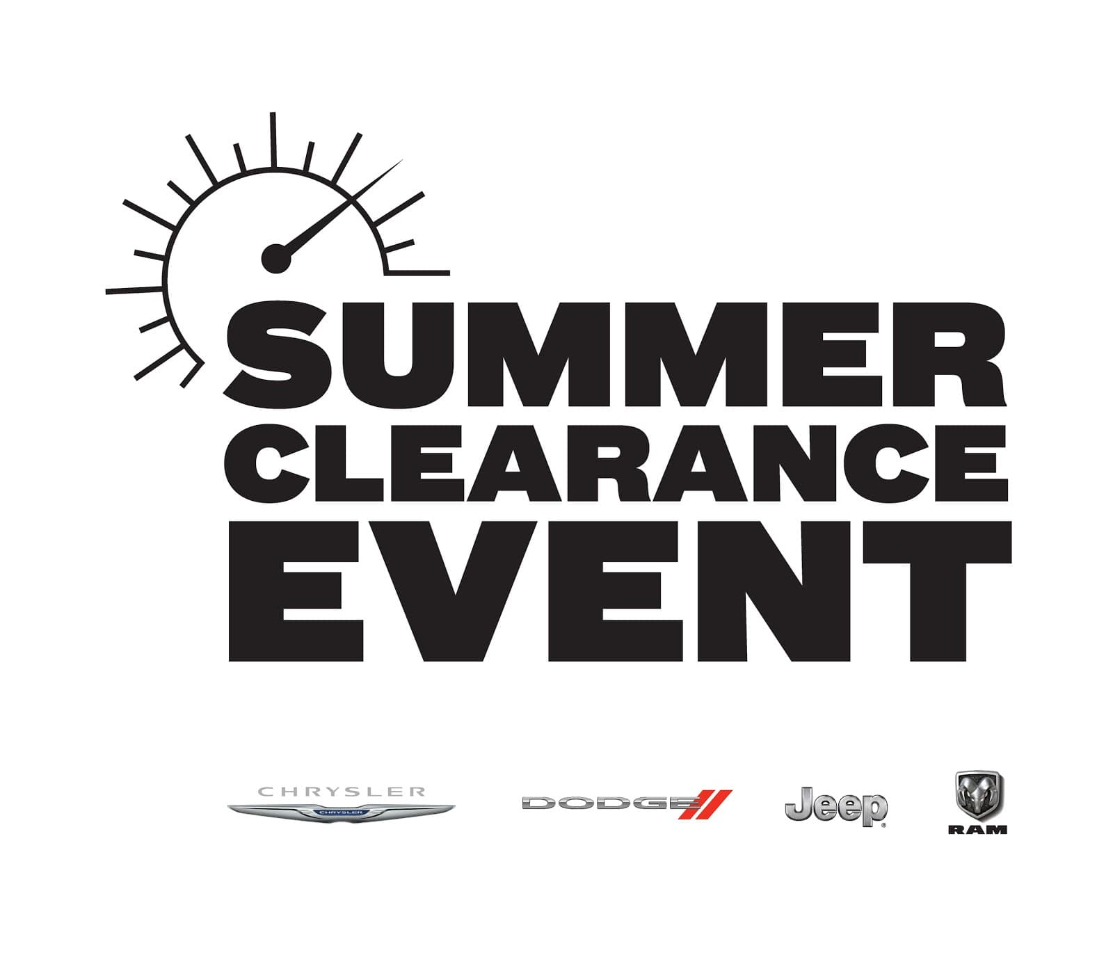 Summer Clearance Event Sales Logo CDJR