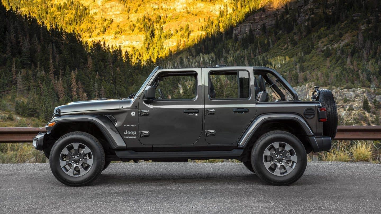 Gray Sahara Jeep Wrangler