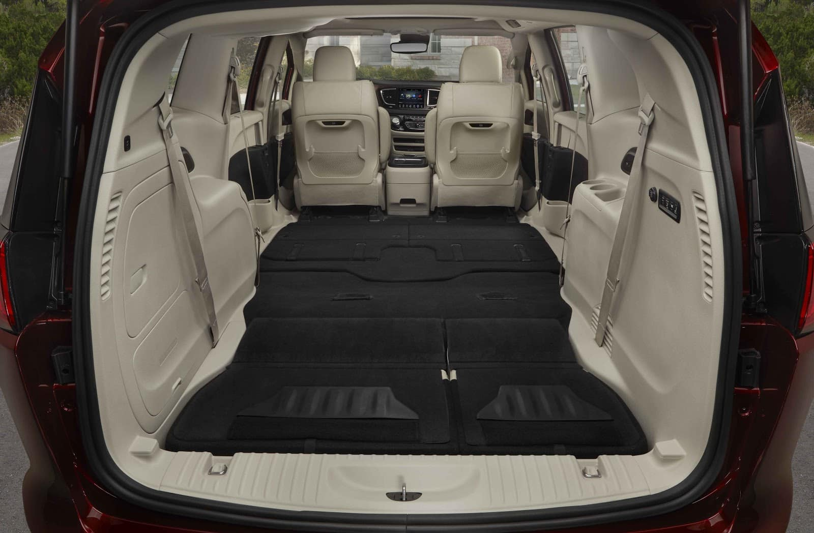 Stow N Go Feature of 2019 Chrysler Pacifica Feature Shown with Seats Folded Down All The Way