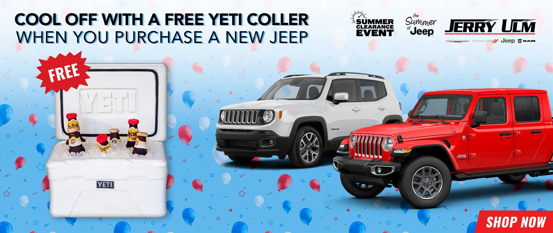 Free Yeti Cooler When You Purchase A New Jeep