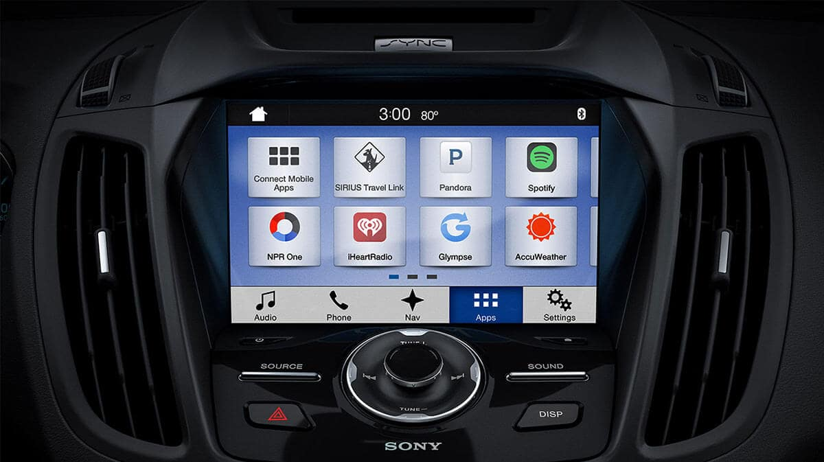 2018 Ford Escape infotainment display