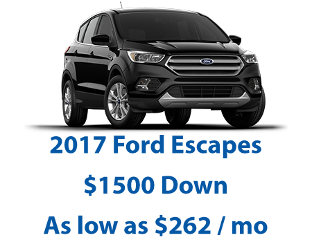 3 Days to save - 2017 Ford Escapes