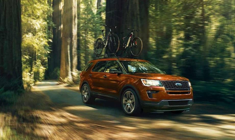 2018 Ford Explorer Sport in forest