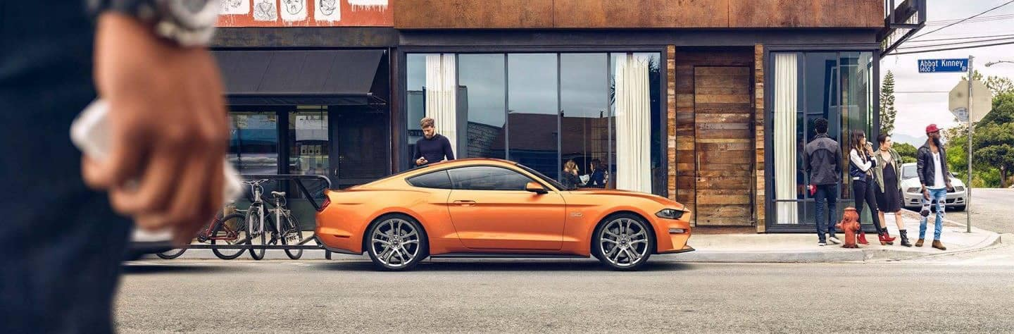 2018 Ford Mustang parked