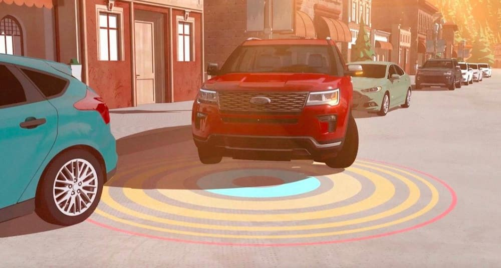 2019 Ford Explorer visual of parallel parking assistance
