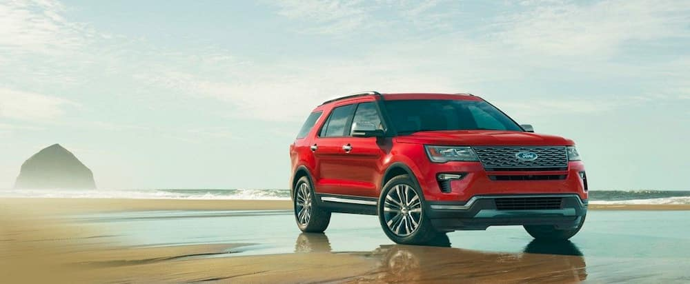 Red 2019 Ford Explorer Seven-Seat SUV