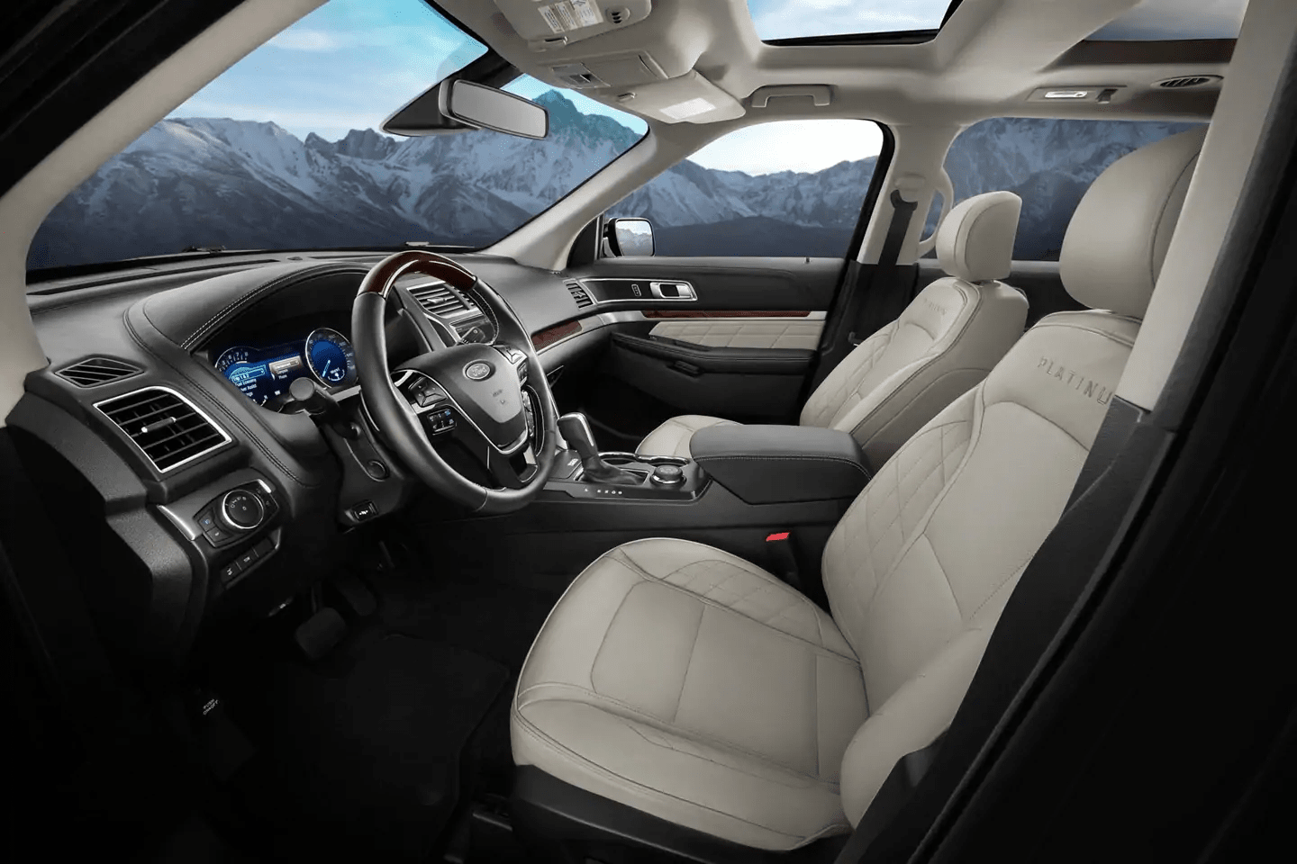 2019 Ford Explorer interior with towing feature
