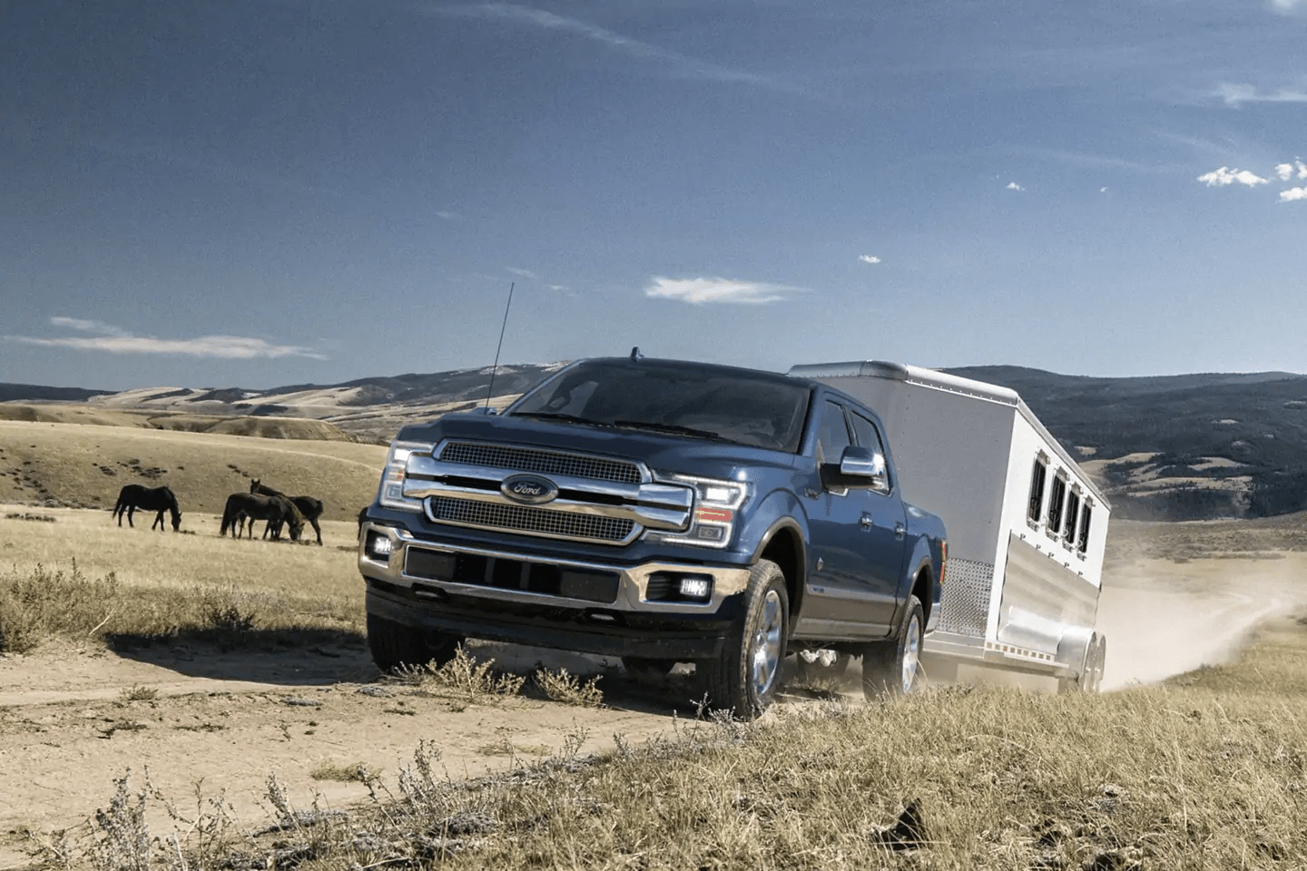 2019 Ford F-150 driving with trailer