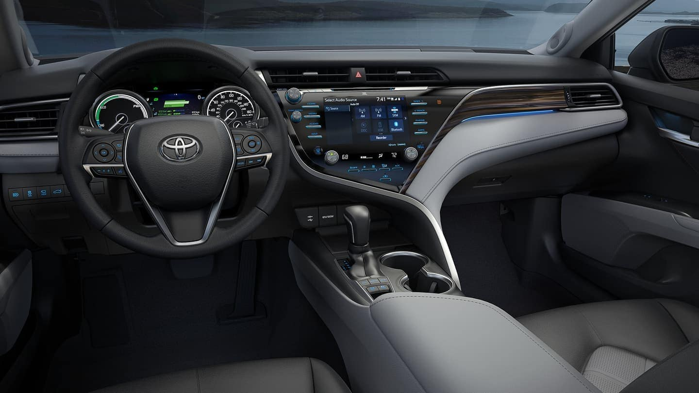 2019 Toyota Camry interior with safety sense