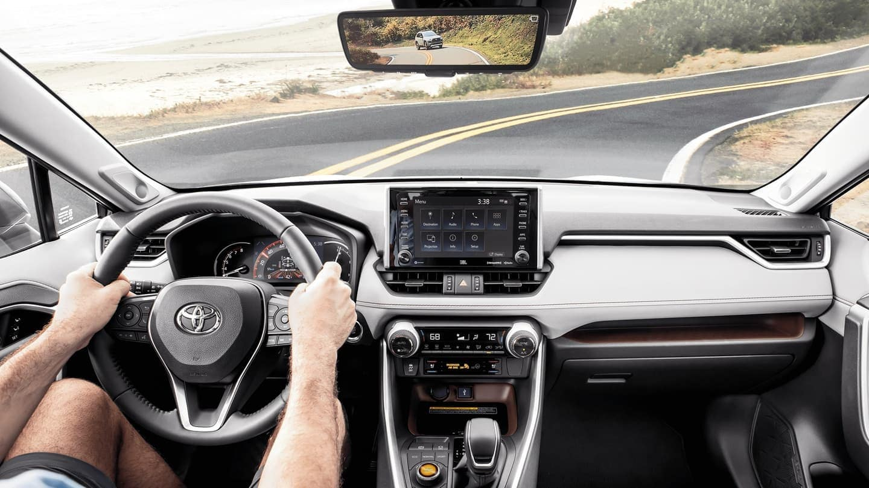 2020 Toyota RAV4 interior dashboard technology