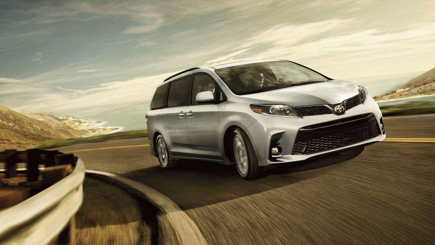 2020 Toyota Sienna driving on road