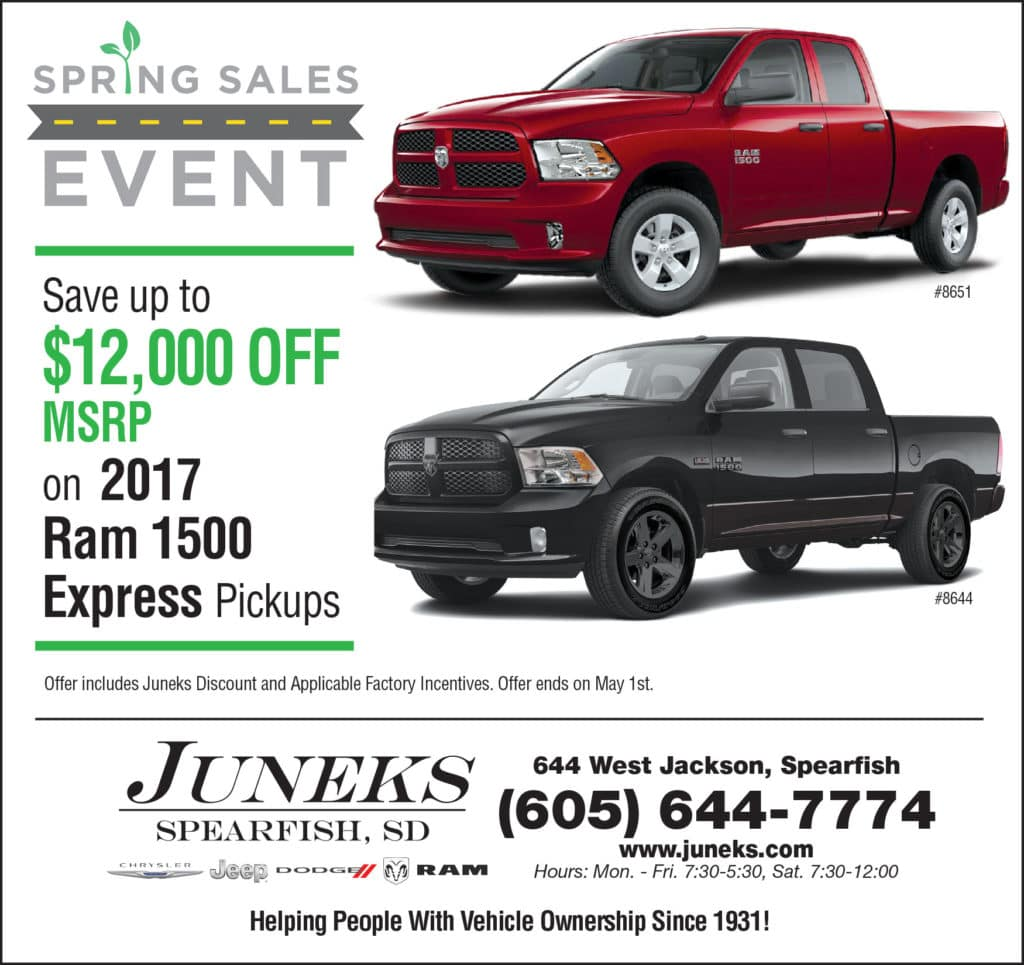 Spring Sales Event on Ram Trucks in Spearfish