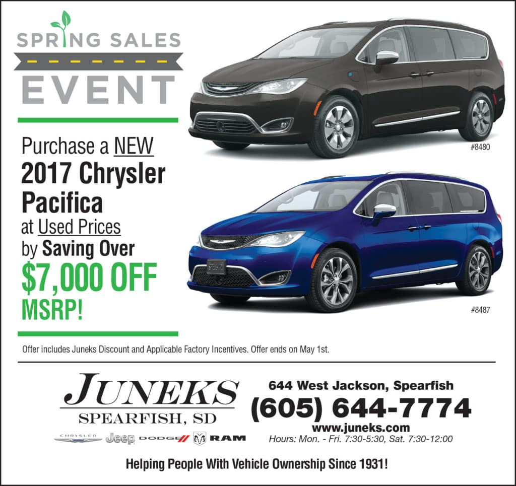 Spring Sales Event on Chrysler Pacifica in Spearfish