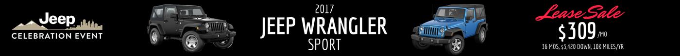 2017 Jeep Wrangler Sport Lease