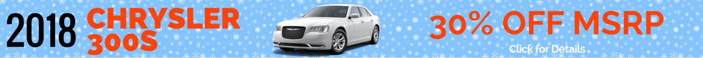 2018 Chrysler 300S - 30% Off MSRP