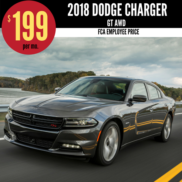 2018 Dodge Charger GT AWD for $199 per month