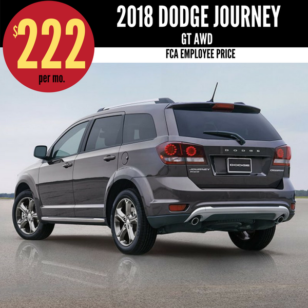 2018 Dodge Journey GT AWD for $222 per month