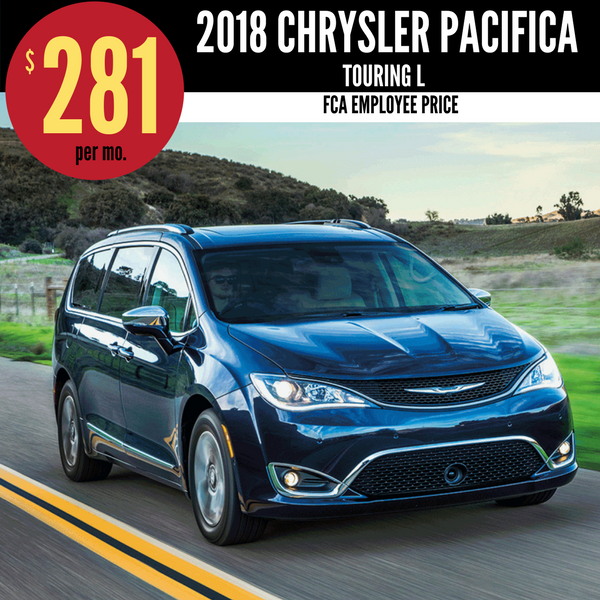 2018 Chrysler Pacifica Touring L for $281 per month
