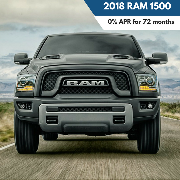 0% APR financing for 72 months on a 2018 Ram 1500