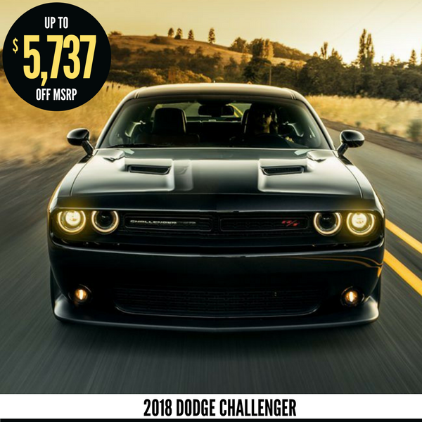 Up to $5,737 off a new 2018 Dodge Challenger