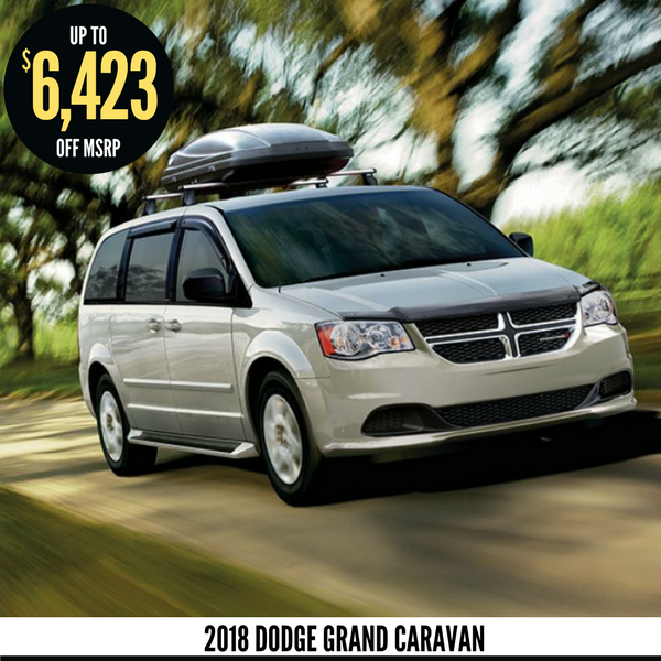 Up to $6,423 off a new 2018 Dodge Grand Caravan