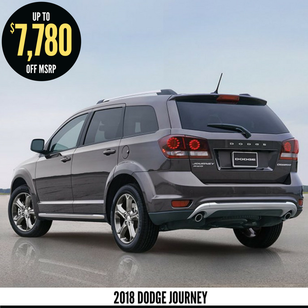 Up to $7,780 off a new 2018 Dodge Journey
