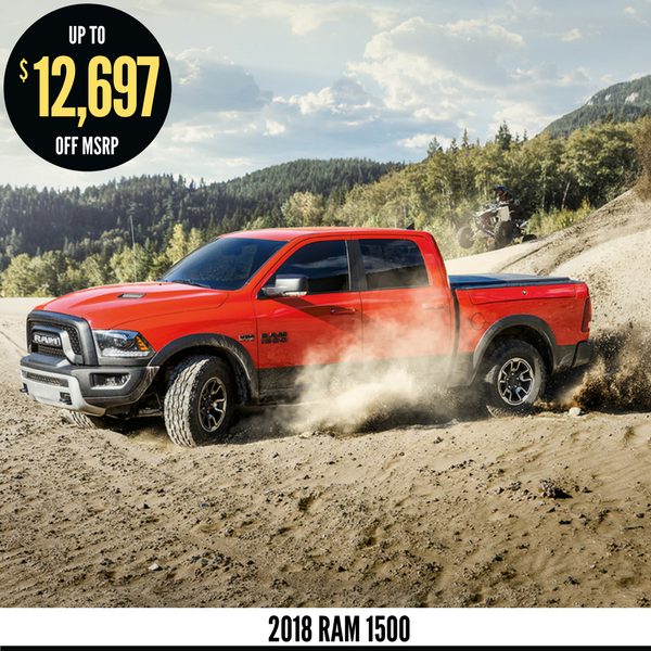 Up to $12,697 off MSRP on a 2018 Ram 1500