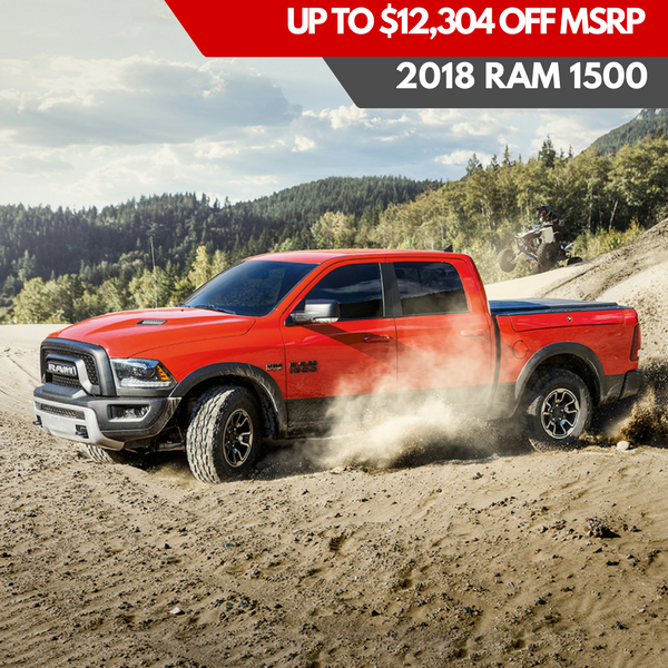 Up to $12,304 off MSRP on a 2018 Ram 1500