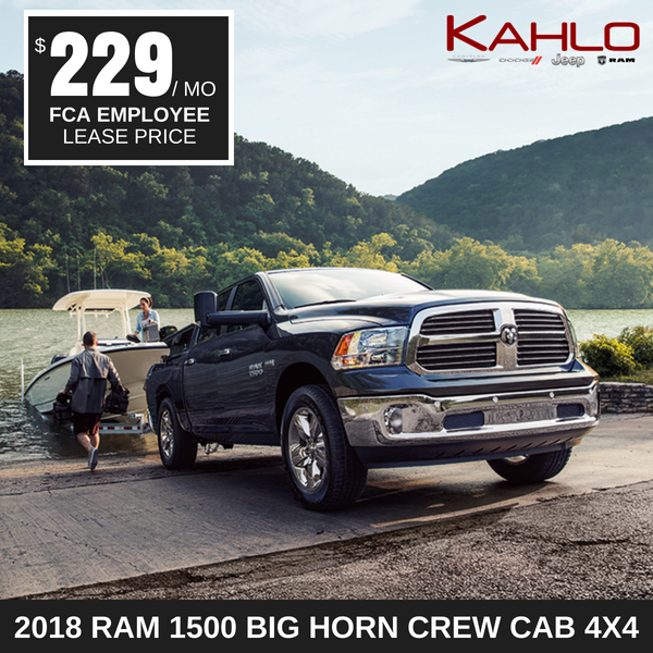 2018 Ram 1500 Big Horn Lease Deal $229 per month