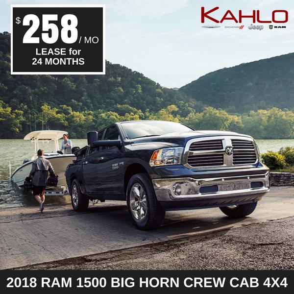 2018 Ram 1500 Big Horn Lease Deal $258 per month